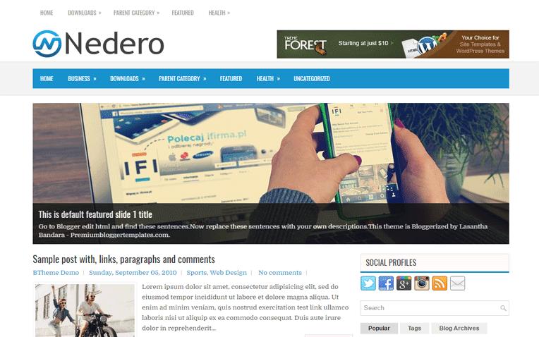 Nedero Free Blogger Template
