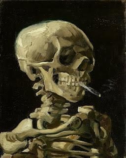 Caveira de um Esqueleto com Cigarro Aceso, 1885–86