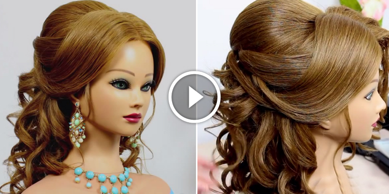 Admirable Romantic Wedding Prom Hairstyle For Long Hair B Amp G Fashion Hairstyles For Women Draintrainus