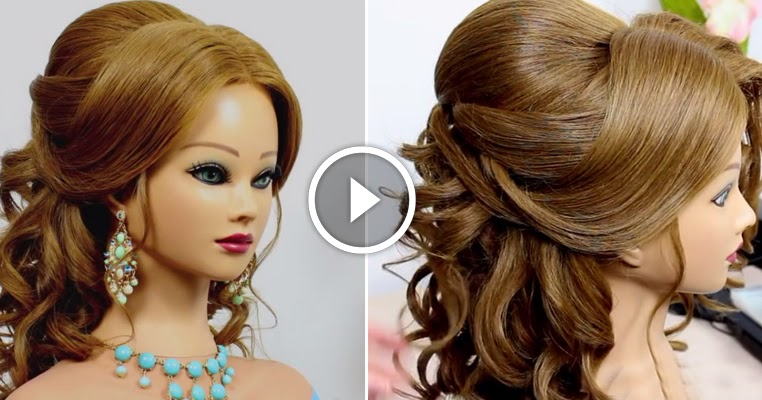 Romantic Wedding Prom Hairstyle For Long Hair