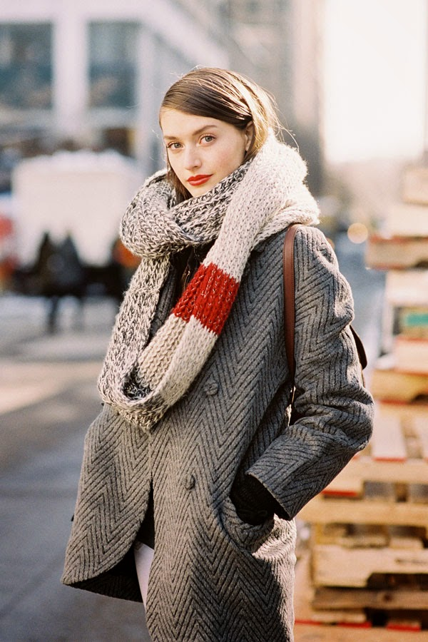 Scarf Knitting Styles : Vanessa jackman new york fashion week aw after j crew