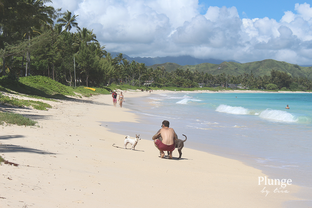 Locals on Kailua beach