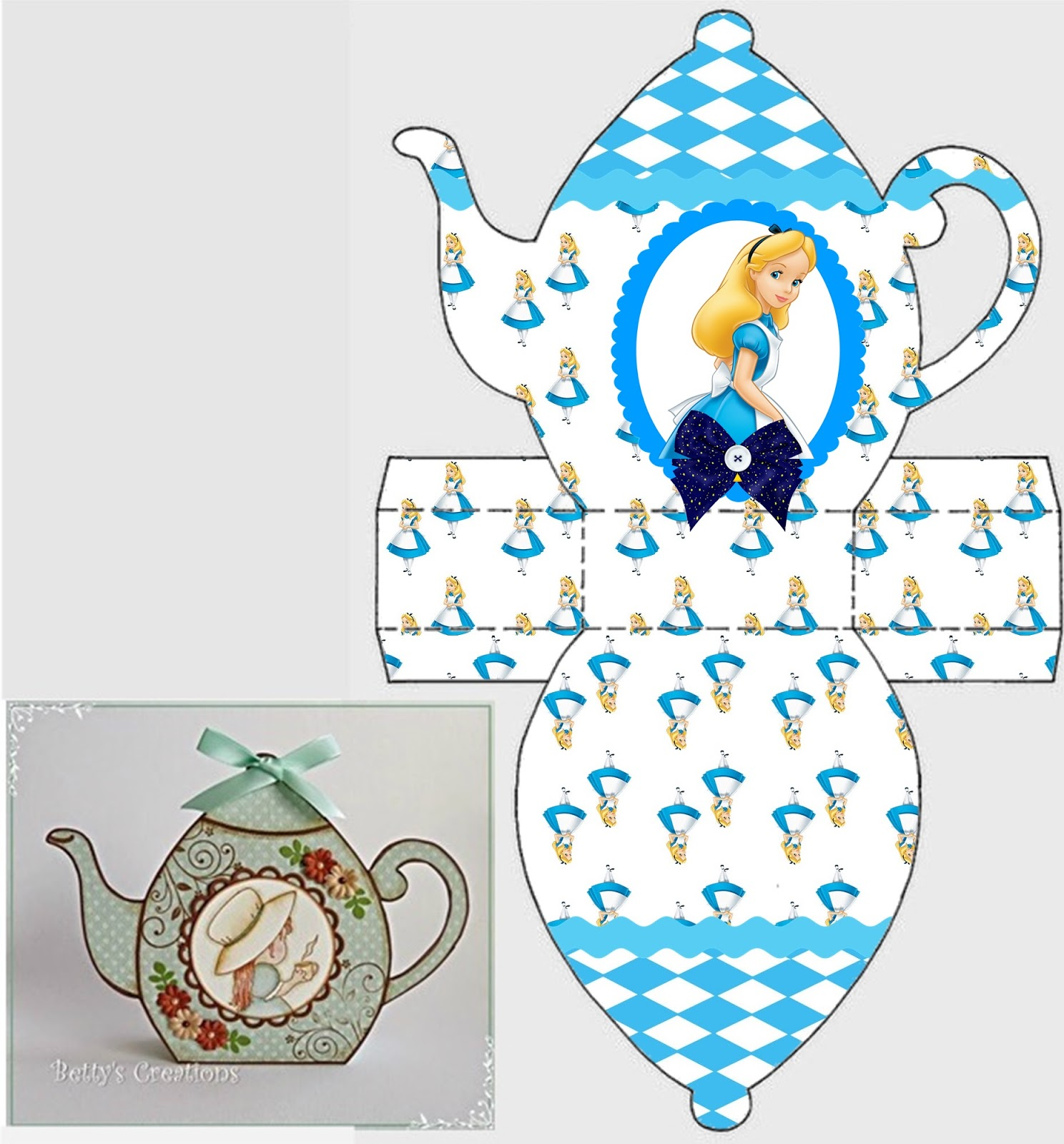 image regarding Teapot Template Free Printable called Alice in just Wonderland: No cost Printable Teapot Box. - Oh My