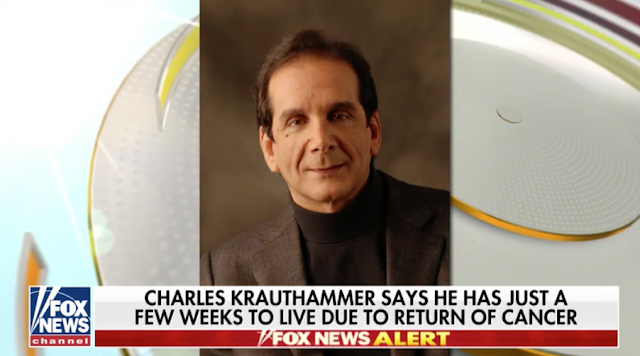 Fox News star Charles Krauthammer reveals he has weeks to live in heartbreaking letter