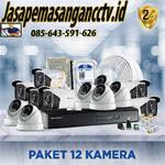 Paket Pasang CCTV 12 Kamera