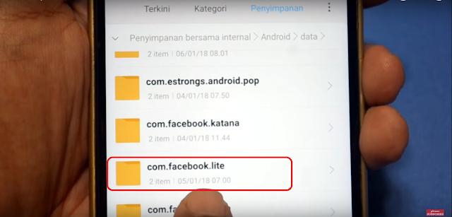 cara menyimpan video dari facebook lite ke galeri