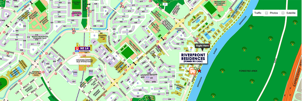 Riverfront Residences Location Map