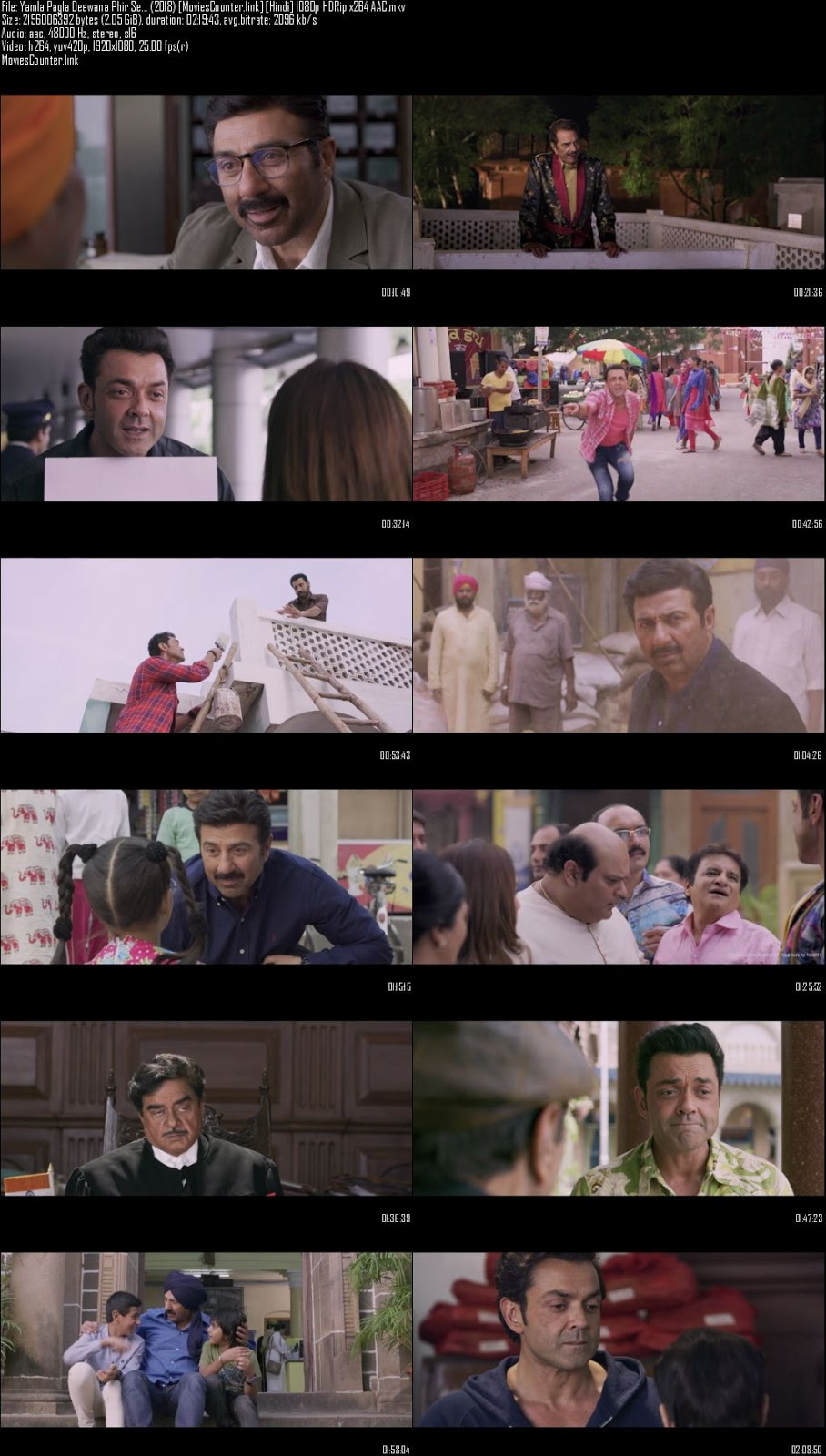 Screen shot Yamla Pagla Deewana Phir Se 2018 Hindi HD 1080p