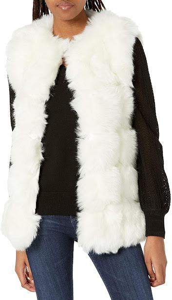 Elegant White Faux Fur Vests For Women