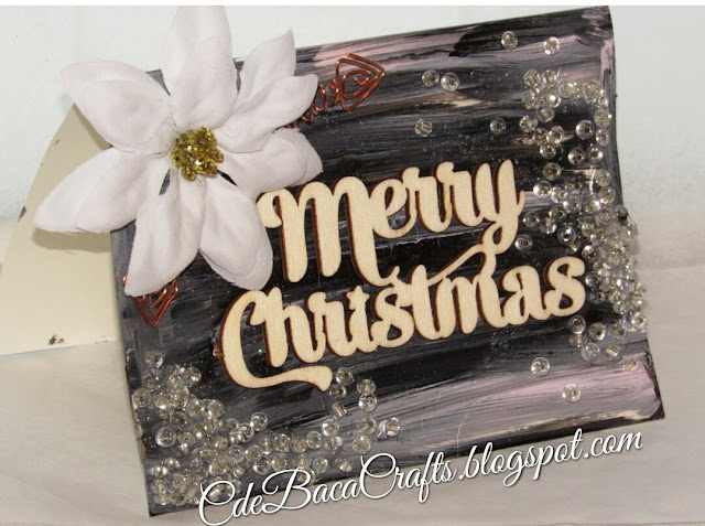 Merry Christmas Card featured on CdeBaca Crafts blog.