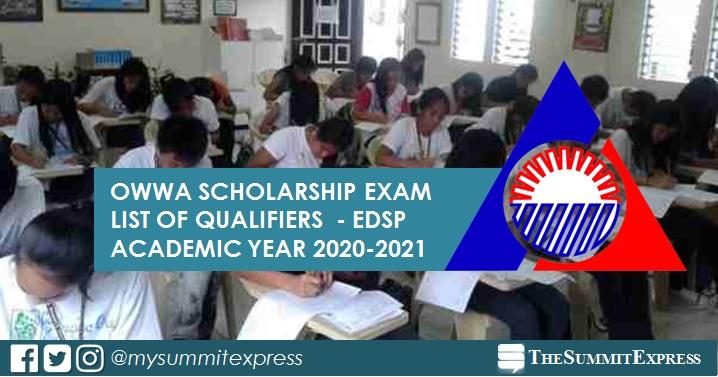 OWWA Scholarship Exam Result 2020: EDSP list of passers