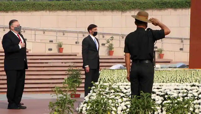 BECA done, fighters and armed drones next as India turns US positive US Secretary of State Mike Pompeo cited his visit to the National War Memorial