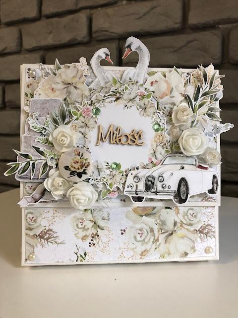 Kartka w pudełku z okazji Ślubu dla Dekolo
