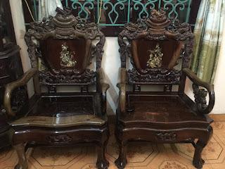 bàn ghế phòng khách gỗ trắc