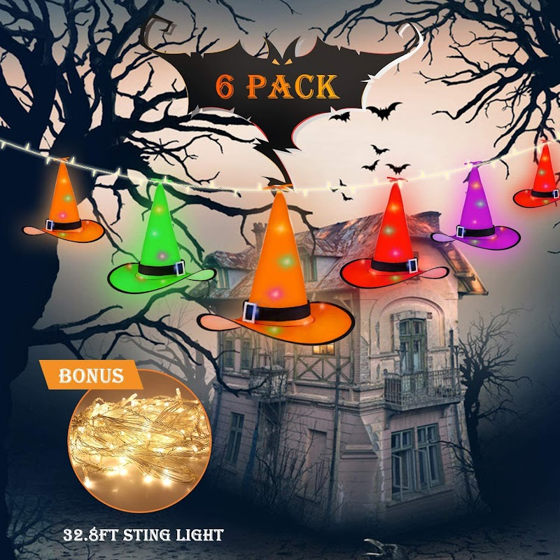 50% OFF Halloween Witch Hat 6-pack