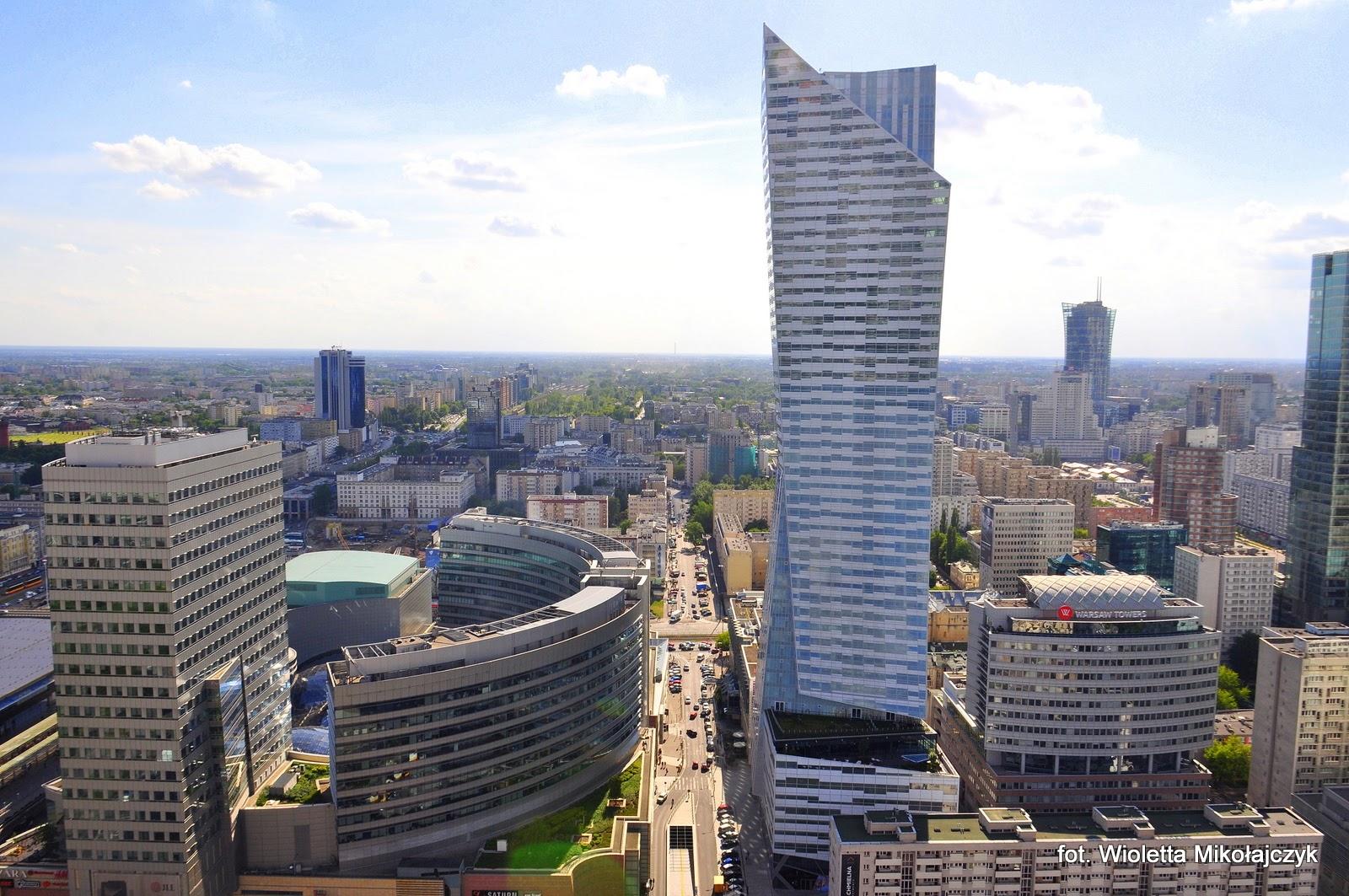 Punkt widokowy na XXX piętrze Pałacu Kultury i Nauki w Warszawie.