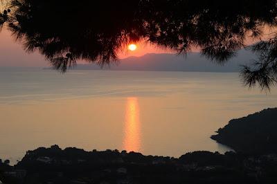 tramonto sul golfo di Policastro