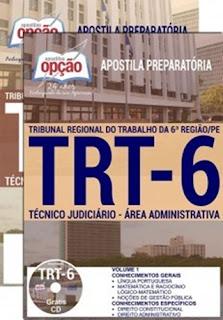 apostila-concurso-trt-pe-6a-regiao-cargo-tecnico-judiciario-area-administrativa