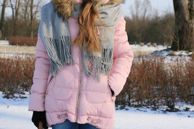 Pink pastel winter jacket | Pudroworóżowa puchówka na zimę