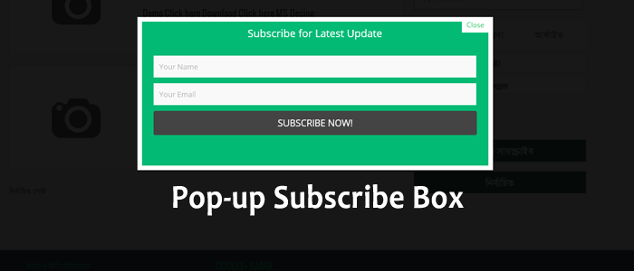 Pop up Email Subscribe box for Blogger