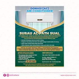 Desain Poster Donasi AC Surau Al-Fath Sual