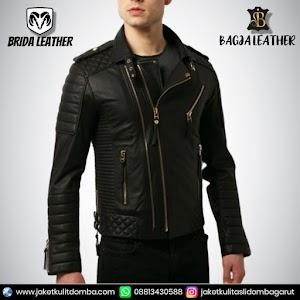 Jual Jaket Kulit Asli Garut Pria Domba Original Brida Leather B93 | WA 08813430588
