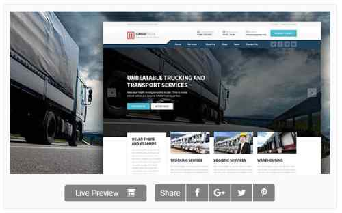 Download Wordpress Theme CargoPress - Logistic