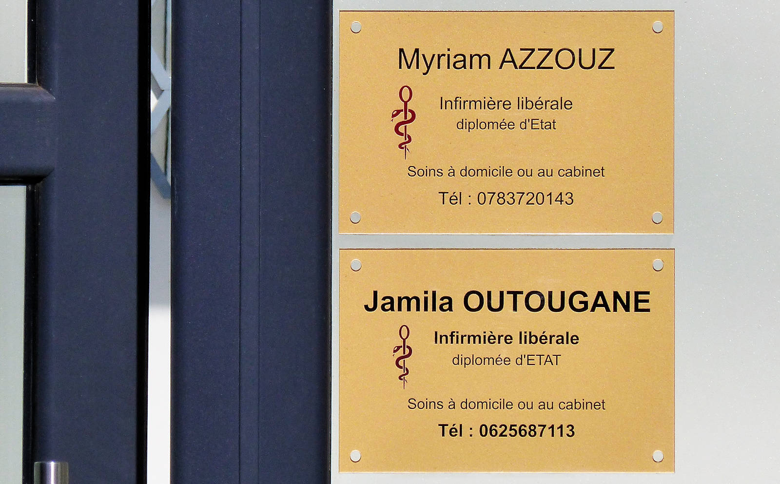 Infirmières Azzouz et Outougane, Tourcoing Croix-Rouge.