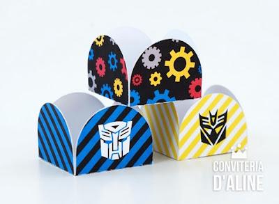 forminha docinho festa transformers autobots