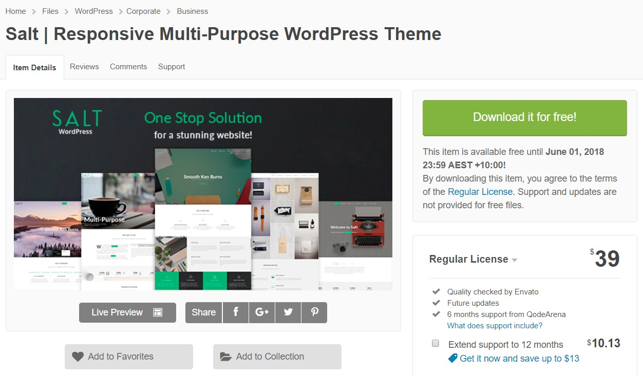 Salt - Responsive Multi-Purpose WordPress Theme
