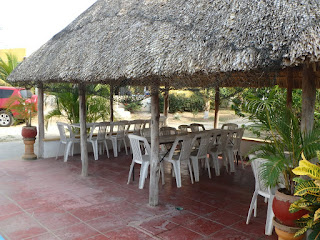 Thatched palapa for entertainment