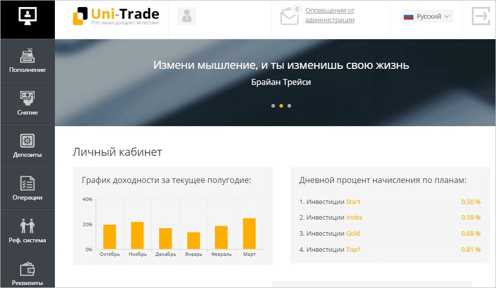 Регистрация в Uni-Trade 2