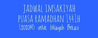 Jadwal Imsakiyah Puasa Ramadhan 1441H (2020M) untuk Wilayah Bekasi