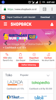 impian terkabul dengan shopbackin, aplikasi belanja shopback, cara menggunakan aplikasi shopback, download aplikasi shopback,