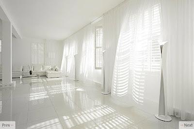 белые прозрачные шторы