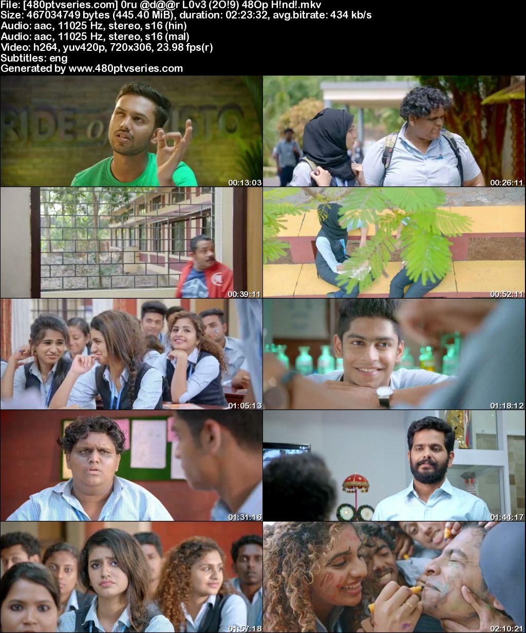 Oru Adaar Love (2019) 450MB Full Hindi Dual Audio Movie Download 480p HDRip Free Watch Online Full Movie Download Worldfree4u 9xmovies