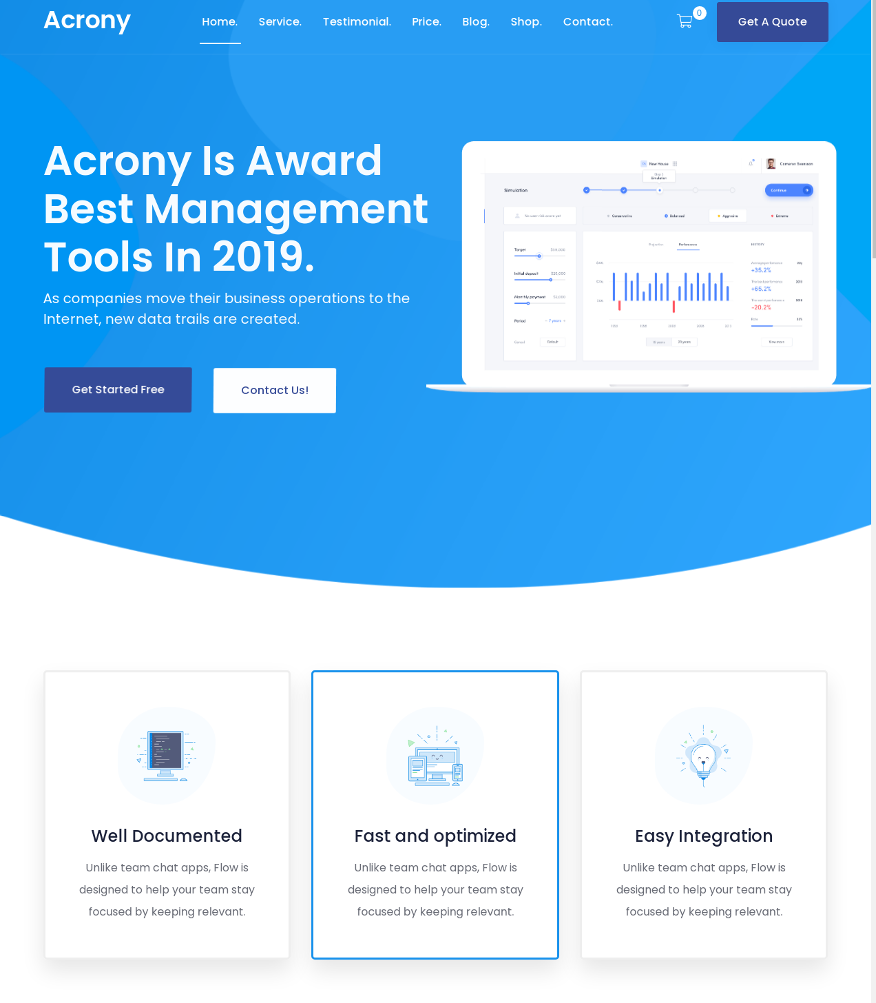 Acrony Software and Saas Theme Best Free WordPress Theme