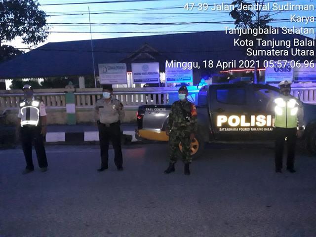 Tim Gabungan Laksanakan Patroli Asmara Subuh Bersama Dengan Personel Jajaran Kodim 0208/Asahan