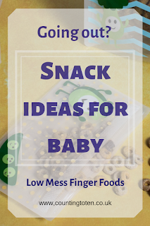 Going Out? Snack Ideas for Baby. Low Mess Finger Foods