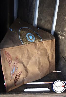 Clutch Oribel aus Snappap mit geplottetem Traumfänger