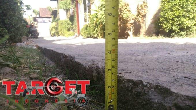 Rabat Beton di RT 18 Dukuh Ngeluk Panjunan di Duga Kurang Maksimal Dalam Pengerjaannya