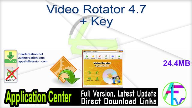Video Rotator 4.7 + Key