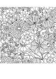 Blumenbilder für Erwachsene ausmalen