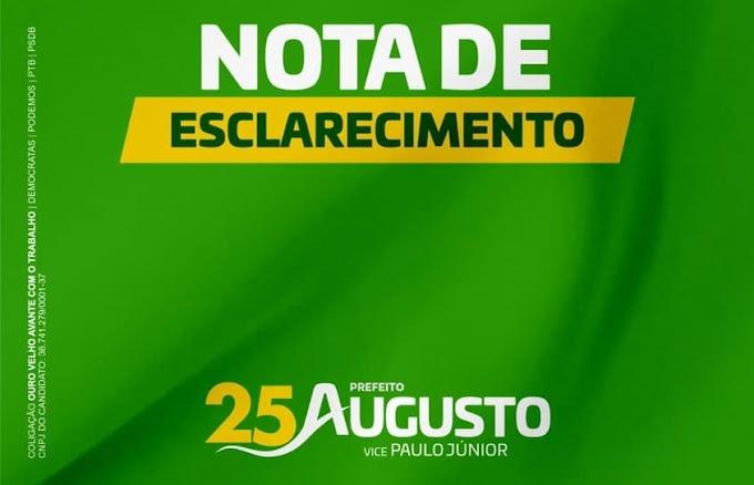 Drº Augusto Valadares publica Nota de Esclarecimento em relação a um debate em uma Emissora de Rádio