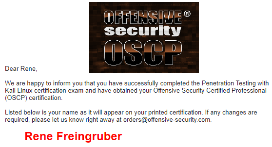 APT29a Security Blog: My journey to OSCP