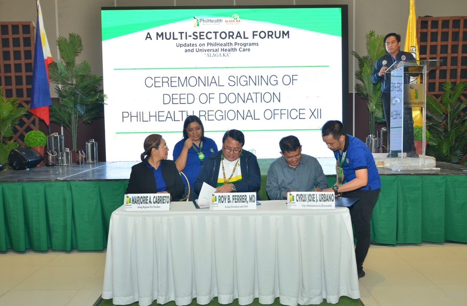 City of Koronadal and PhilHealth XII Signs Agreements