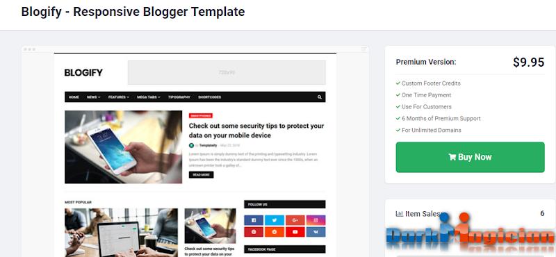 Blogify অসাধারন একটি Blogger Template ডাউনলোড করে নিন আপনার জন্য