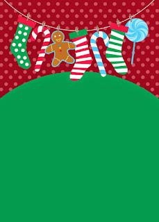 Invitaciones, Tarjetas o Fondos para Navidad para Imprimir Gratis.