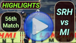 SRH vs MI 56th Match