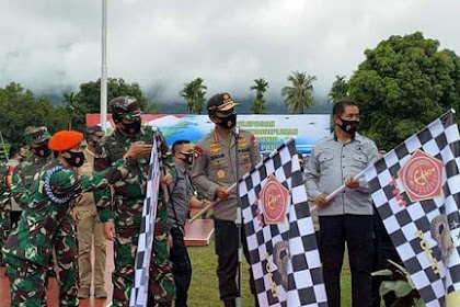 Panglima TNI dan Kapolri Pimpin Apel Pelepasan Satgas Pendisiplinan Protokol Kesehatan Papua